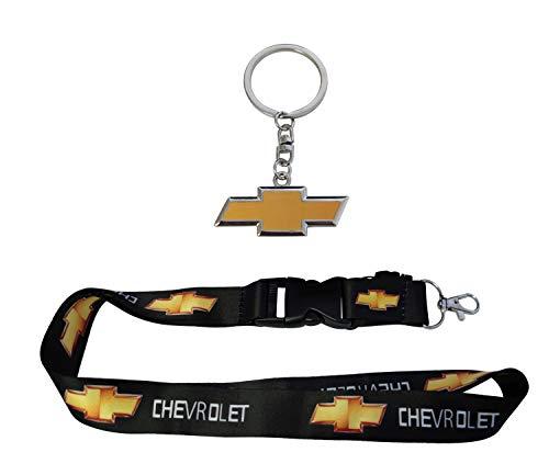1pc Metal Key Chain & 1pc Black Lanyard For Chevrolet Accessories Gift Fashion Car SUV Truck Motorsport Racing Man Women Fashion Clasp