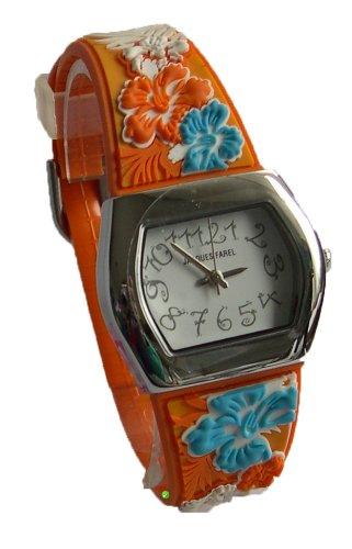 Jacques Farel CKD5560 Mädchen-Armbanduhr Kunststoffband Mehrfarbig