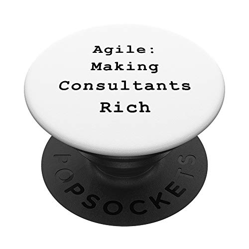 Agile Rich Consultants Project Management Funny PM Coach PopSockets PopGrip: Agarre intercambiable para Teléfonos y Tabletas
