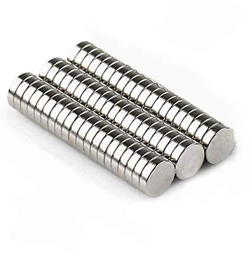 Neodym Magnete, massway Mini Magnete Rund 10 x 2mm Kühlschrankmagnete Seltenerdmagnet Magnete Klein Stark für Magnettafel, Whiteboard, Kühlschrank - 60 Stück
