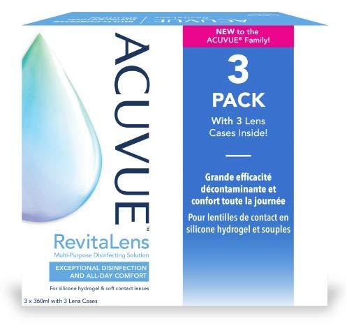 Complete Revitalens - Big Pack, 3 x 360ml Kombilösung für Kontaktlinsen