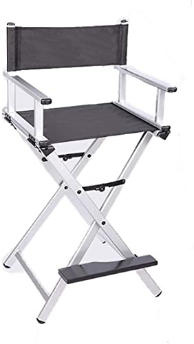 LLRDIAN Chaise Pliante Professionnelle en Aluminium Chaise de Direction Chaise de Maquillage Chaise de Loisirs Chaise Pliante Simple