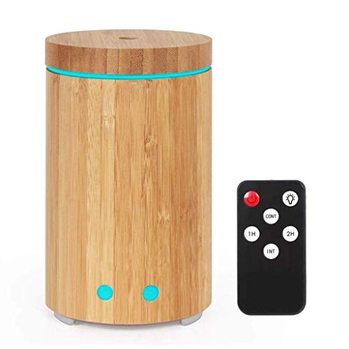 MRXUE Äzialisches Öl Aroma Diffuser Bamboo Tube Humidifier Air Purifier LED Colorful Night Light mit Fernbedienung Intelligente Power Off
