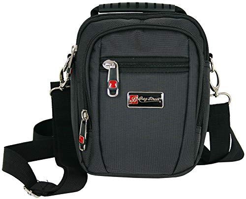 Kleine schoudertas voor mannen schoudertas heren tas zwart crossover tas ook als riemtas draagbaar (2361)
