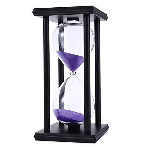 FUNRE 30/60 Min Sanduhr-Sand-Timer for Küche Schule Moderne Holz-Hour Glass Sanduhr Sand Clock Tea Hauptdekoration Geschenk (Color : H, Time : 30min)