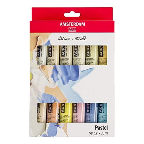 Talens AMSTERDAM - Juego de pinturas acrílicas pastel (12 x 20 ml)