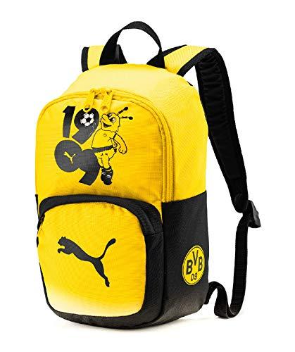 Puma BVB Kids Backpack Rucksack, Cyber Yellow Black, UA