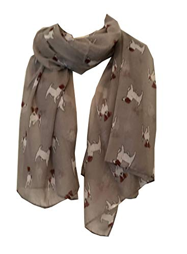 Pamper Yourself Now Grau Jack Russel Hund Schal/wrap -Grey Jack Russel Dog Scarf/wrap