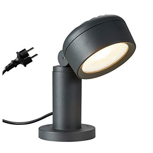 SLV LED Außenleuchte ESKINA 30, Design Außen-Standleuchte, Stehleuchte, LED Wege-Leuchte, Pollerleuchte, Weg-Beleuchtung, Garten-Lampe, Gartenbeleuchtung, CCT Switch (3000K/4000K), 1000lm, 14,5W