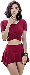 Split Skirt Conservative Small Chest Gathered Sexy Slimming hot Spring Bathing Suit