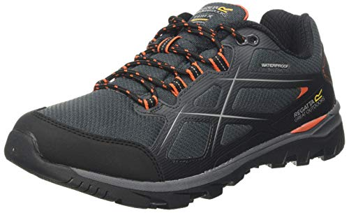 Regatta Kota II Low Waterproof Hiking Shoe, Zapatillas de Senderismo para Hombre, Marrón (Briar/Burnt Salmon Kfd), 41 EU