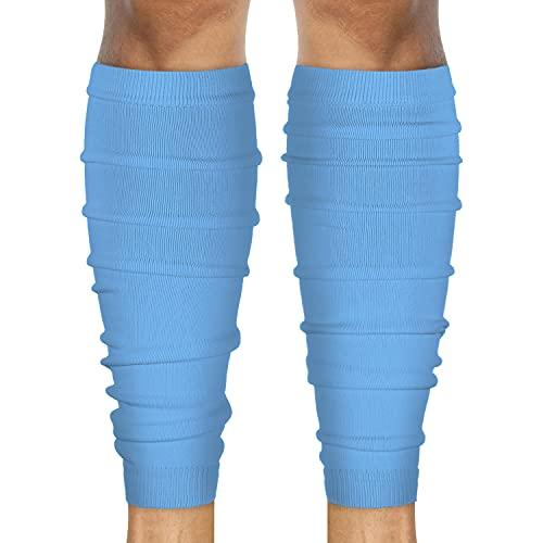 SLEEFS Calf Compression Leg Sleeves - Football Leg Sleeves for Adult Athletes - Shin Splint Support (Light Blue)