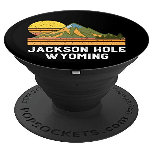 Mountain Sunset WY Vacation Gift- Jackson Hole Wyoming PopSockets Grip and Stand for Phones and Tablets