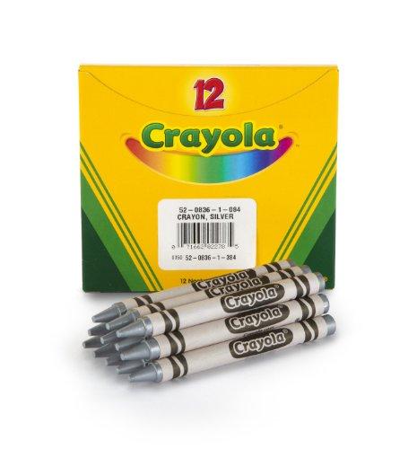 Crayola Metallic Silver Crayons, Bulk Crayons, 12 Count