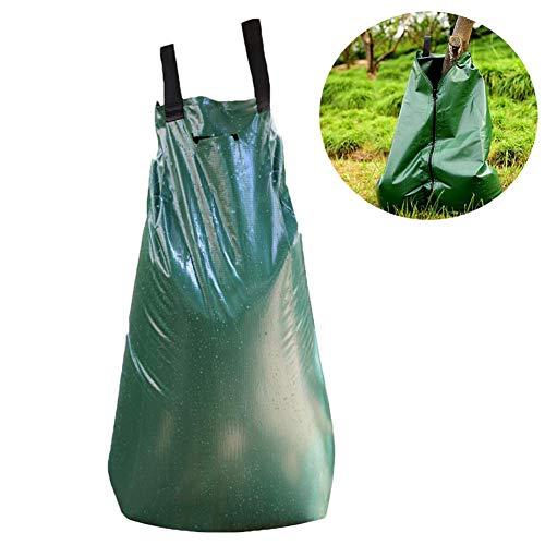 lennonsi 20 Gallonen Bewässerungsbeutel PVC-Beutel Tropfbeutel Baumbeständiger Bewässerungsbeutel mit Reißverschluss, automatisches Tropfsystem für neu gepflanzte Bäume