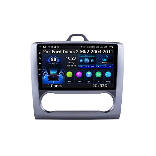 Android 9 Pulgadas Estéreo GPS Navi De Coches Reproductor De Vídeo para Ford Focus 2 Mk2 2004-2011 4 Cores 2G+32G Car Player con Pantalla Coche Conecta Y Reproduce Bluetooth Multimedia SWC