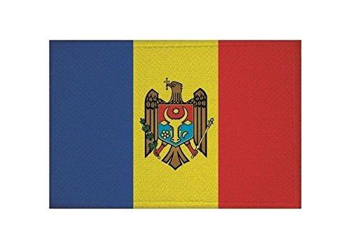 U24 Aufnäher Moldawien Fahne Flagge Aufbügler Patch 9 x 6 cm