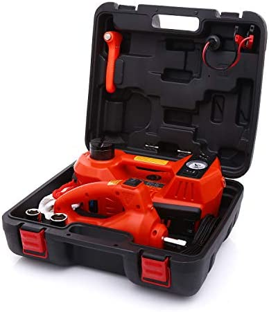 Trihelper Hydraulic Car Jack Kit 3 Ton Electric Car Jack Stand Four In One Jack Set for Sedans product image