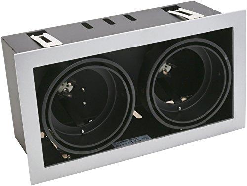 LEDs-C4 DM 0054-N 3-00-Encastrement multidir 2xgu5,3 50 W Noir Laqué
