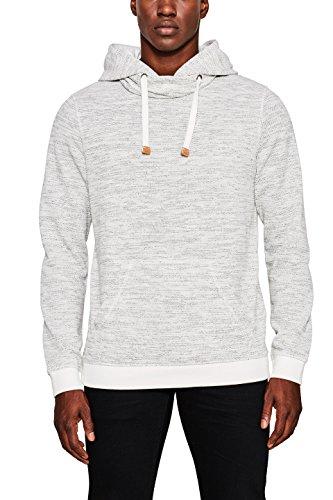 edc by ESPRIT Herren 097CC2J010 Sweatshirt, Weiß (Off White 110), Large
