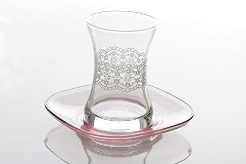 12-tlg. LAV Ipek Gläserset Cay Bardagi Türkische Teeset Teeglas
