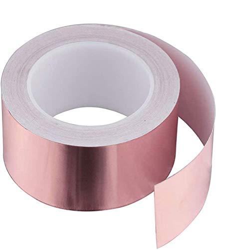 Dioxide Kupferband 50mmX25M EMI Kapton Tape Klebeband Selbstklebend Abschirmend Gegen Schnecken Kupferfolie...
