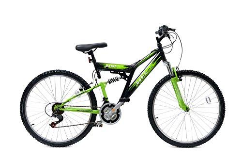 """Basis 2 Full Suspension Mountain Bike 26"""" Wheel 21 Speed Black Green"""