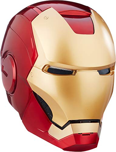 Avengers Marvel Legends Iron Man Casco Electrónico, Color Dorado, Rojo, Estándar (Hasbro B7435)