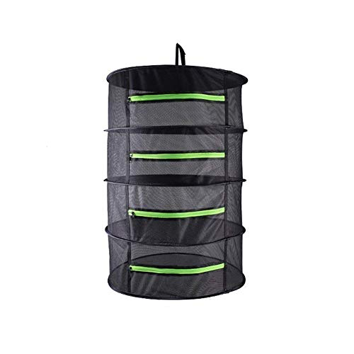 EACHON Small Size Hanging Plant and Bud Drying Rack Mini 4 Tier Hydroponic Dry Net for Herbs & Tea with Carry Bag 17.7 inch x 35.4inch