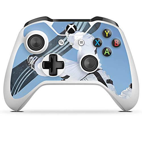 DeinDesign Skin kompatibel mit Microsoft Xbox One S Aufkleber Folie Sticker Snowboard Snow Schnee