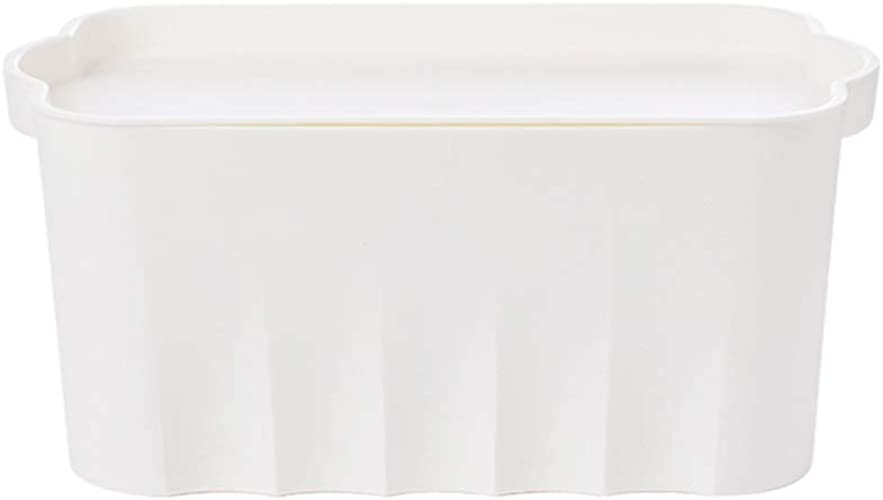 SMBYLL Boîte de RangeHommest Grande capacité avec Panier de RangeHommest pour Couvercle, RangeHommest en Plastique épais pour vêteHommests de Maison, Blanc Bleu, Trois Tailles Boîte de RangeHommest