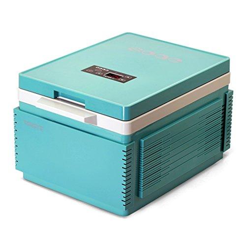 JCOCO Voiture de boîte de chauffage de maison de réfrigérateur de la voiture 12L et réfrigération à double usage de maison (Couleur : Cyan-blue)