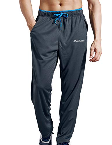 Duuluup Men Sport Pants - Quick Dry Active Sports Sweatpants Color Mixing with Pockets