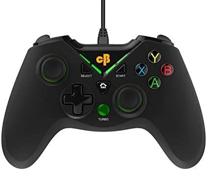 Cosmic Byte C1070T Interstellar Wired Gamepad for PC/PS3/Android support for Windows XP/7/8/10, Rubberized Texture, D...