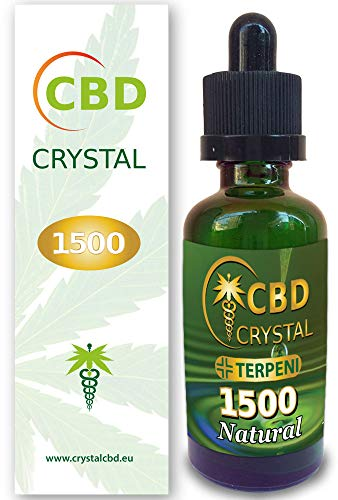 CrystalCBD 1500 Natural 50ml Sabor Neutro - Liquido para Cigarrillo electronico concristales de CBD 1500 MG / 50ml E-Liquid SIN NICOTINA no nicotina no Tabaco