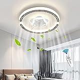 HYQJUNE Ventiladores De Techo LED Iluminación con Control Remoto...