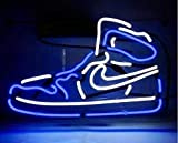 Queen Sense 14' Blue Air Boot Sneakers Shoe Neon Sign Acrylic Handmade Man Cave Beer Pub Bar Wall Decor Lamp Light WB90