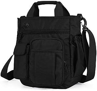 FYXKGLan New Diagonal Shoulder Bag Multi-Layer Sports and Leisure Large-Capacity Men's Messenger Bag (Color : Black)