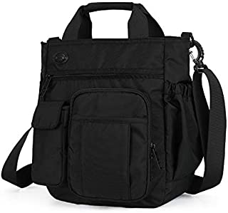 FYXKGLan New Diagonal Shoulder Bag Multi-Layer Sports and Leisure Large-Capacity Men's Messenger Bag (Color : Black)