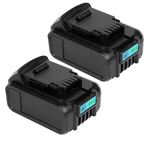 Sypousy 6.0Ah DCB205 Battery Replacement 20V Lithium Battery for Dewalt DCB200 DCB201 DCB203 DCB204 DCB205 DCB206 DCB207 Cordless Power Tools (2Packs)