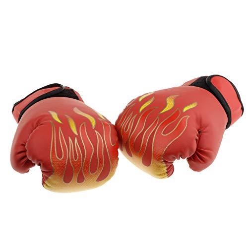 Guantes De Boxeo para Niños Guante De Perforación para Niños Bolsa para Perforar Lucha Entrenamiento De Entrenamiento 8 Onzas para Niños De 4 A 12 Año - Rojo