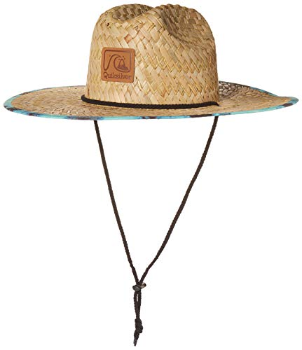 Quiksilver Men's Lifeguard Beach Sun Straw Hat, Cabbage Outsider, L/XL