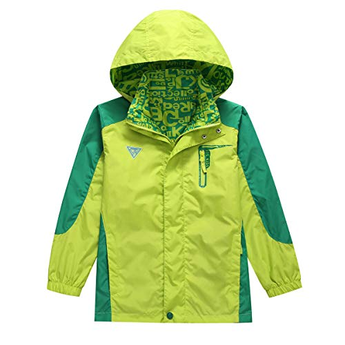 BASADINA Kids Waterproof Jacket Boys Lightweight JacketTwo Sides Breathable Wind Rain Resistant Outdoor Jacket 5 14 Years Ideal for Hiking