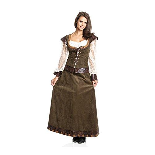 Kostümplanet® Mittelalter Damen Kostüm Burgfräulein Kleid mittelalterliche Kleidung 52/54