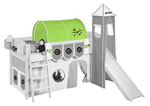 Lilokids Tunnel Dragons Grün - für Hochbett, Spielbett und Etagenbett