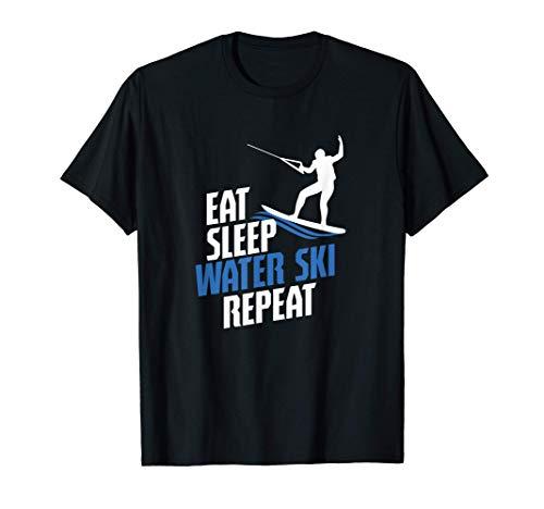 Essen Schlafen Wasserski Skifahren Surfen Wakeboard Geschenk T-Shirt