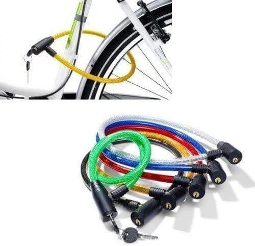 Cavo Acciaio Lucchetto per Bicicletta Catena con Chiave ANTIFURTO Bici 2 Chiavi misura 12mmx680mm