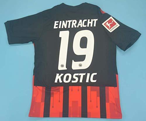 SU Filip Kostic#19 Trikot 2020-2021 Full Patch RED&Black Color (L)