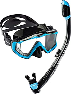Cressi Pano 3 & Supernova Dry, Black/Blue