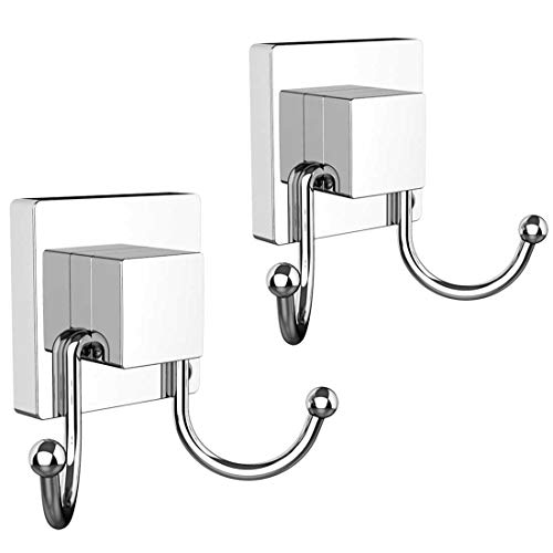 HOME SO Suction Cup Hooks for Shower, Bathroom, Kitchen, Glass Door, Mirror, -